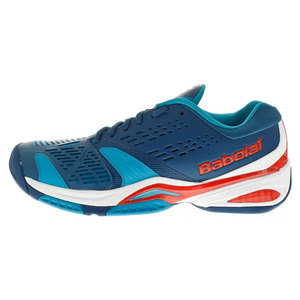 Men`s SFX All Court Tennis Shoes Blue and Red