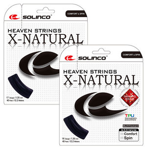 X-Natural Tennis String Black