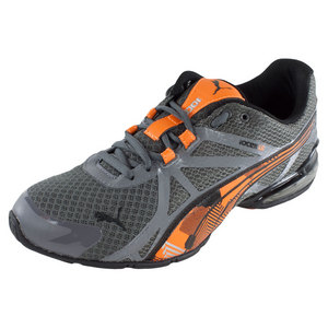 Men`s Voltaic 5 Mesh Camo Running Shoes Steel Gray and Vibrant Orange