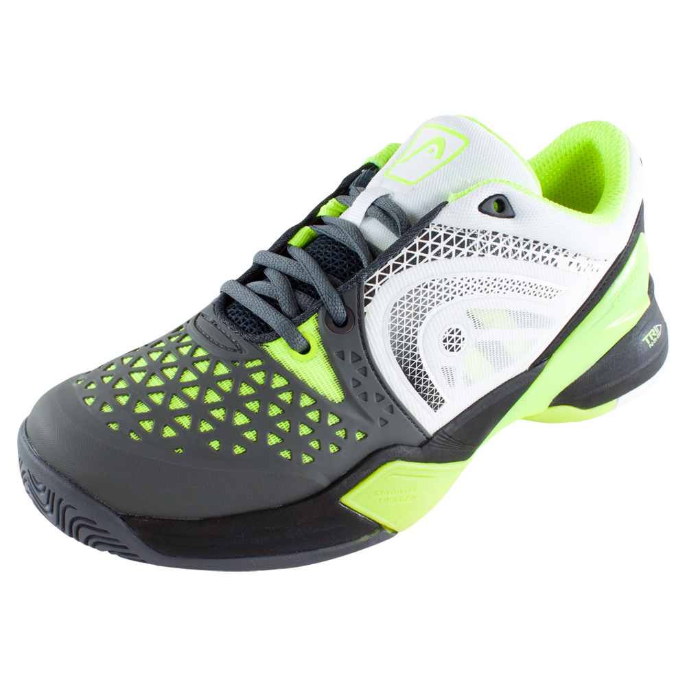 s revolt pro tennis shoes gray and neon yellow ebay