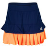 ADIDAS Women`s All Premium Tennis Skort Night Sky and Flash Orange