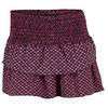 LUCKY IN LOVE Women`s Smocked Diamond Tier Tennis Skort Shocking Pink
