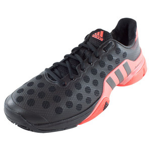 Men`s Barricade 2015 Tennis Shoes Black and Bright Red