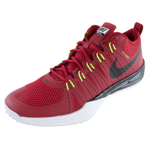 Men`s Lunar Training 1 Shoes Gym Red and White