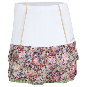 Women`s High Waist Tennis Skort White