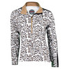 BOLLE Women`s Safari Long Sleeve Tennis Top Leopard
