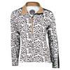BOLLE Women`s Safari Long Sleeve Tennis Top Leopard