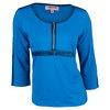 Women`s Demi 3/4 Sleeve Tennis Top 3728_ATOMIC_BLUE