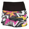 LUCKY IN LOVE Women`s Sequin Pow Scallop Tennis Skort Multi