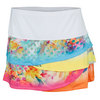 LUCKY IN LOVE Women`s Floral Dip Dye Scallop Tennis Skort Multi