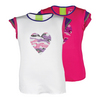 LUCKY IN LOVE Girls` Mesh Cap Sleeve Tennis Top