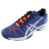 Men`s Gel-Solution Speed 2 Tennis Shoes Blue and Flash Orange by ASICS