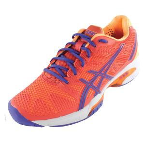 Women`s Gel-Solution Speed 2 Tennis Shoes Hot Coral and Lavender