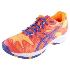 Juniors` Gel-Solution Speed Tennis Shoes Hot Coral and Lavender