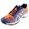 ASICS Juniors` Gel-Solution Speed Tennis Shoes Blue and Flash Orange