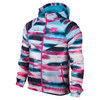 NIKE Girls` Flight Weight All-Over Print Windrunner Blue Lagoon and Clearwater