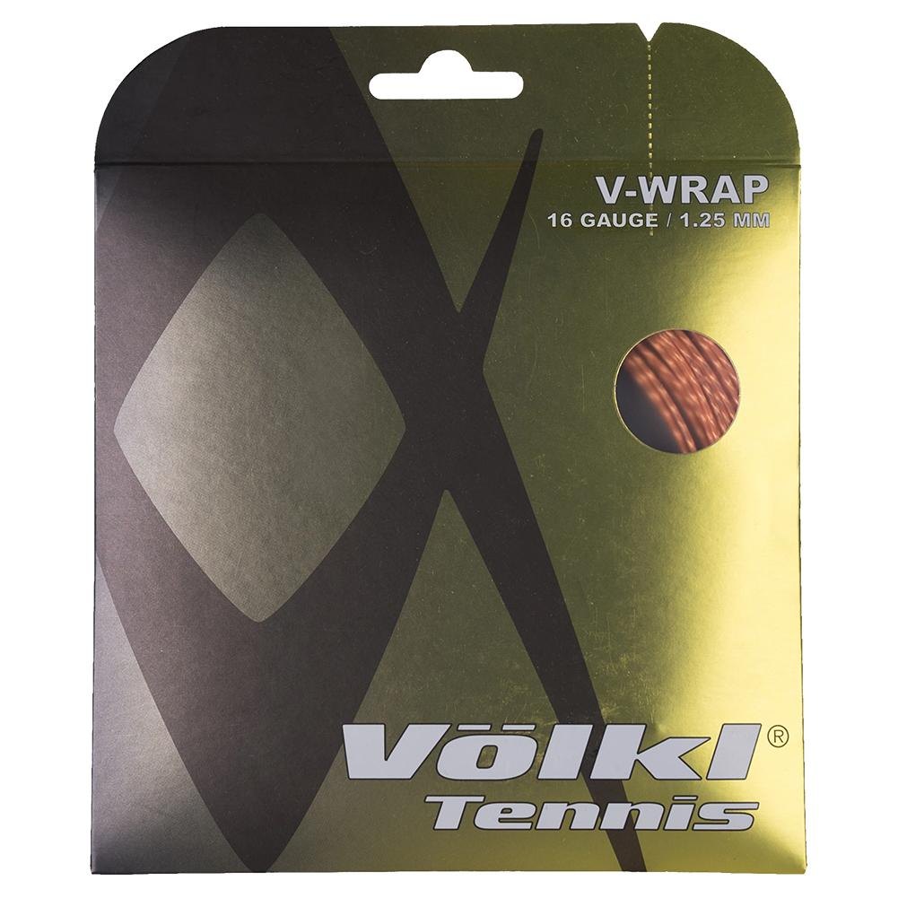 V- Wrap 16g Tennis String Orange Spiral