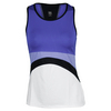 TAIL Women`s Melodic Tennis Tank White and Deep Lavender