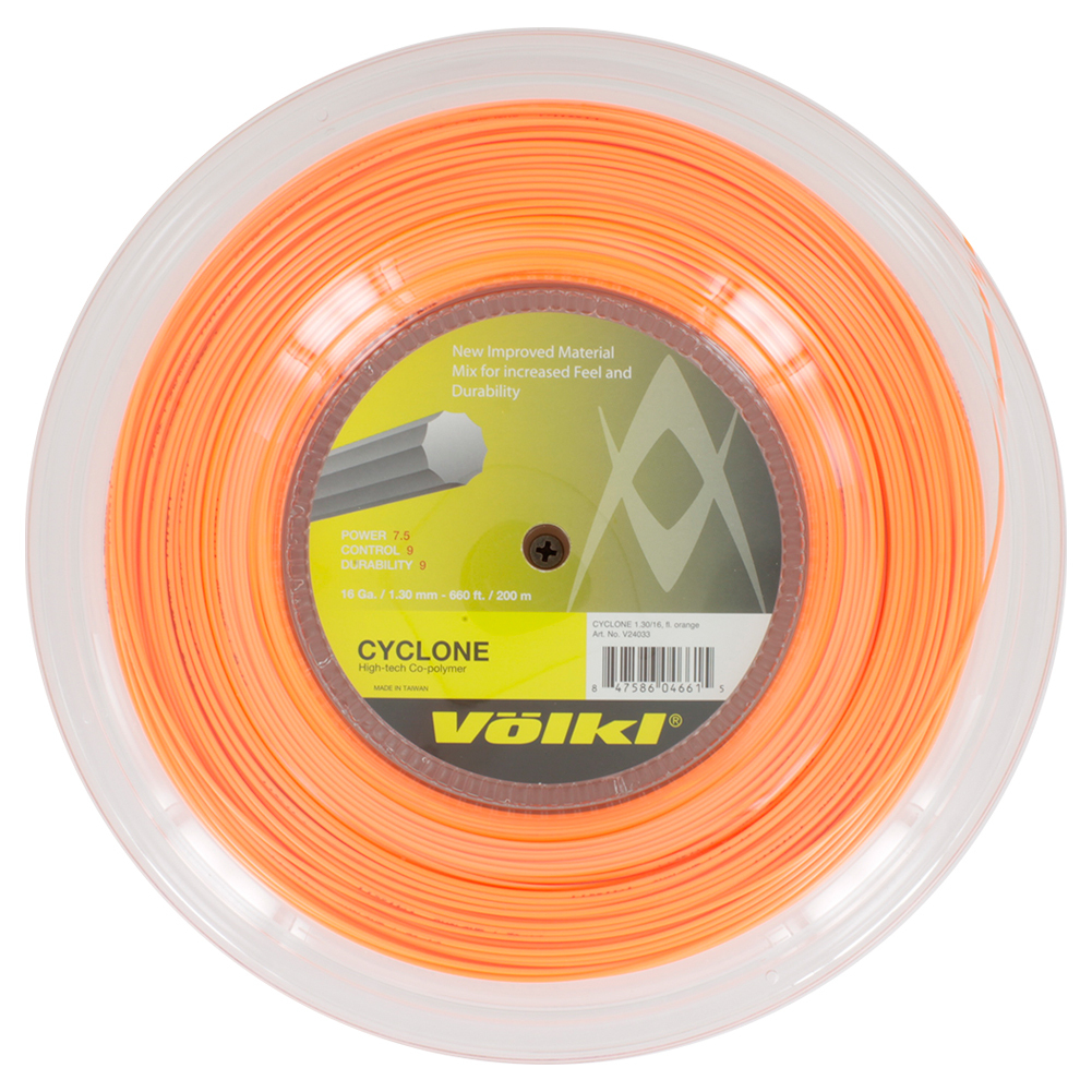 Cyclone 16g Tennis String Reel Fluo Orange