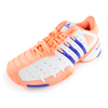 ADIDAS Women`s Barricade V Classic Tennis Shoes Light Flash Orange and Night Flash