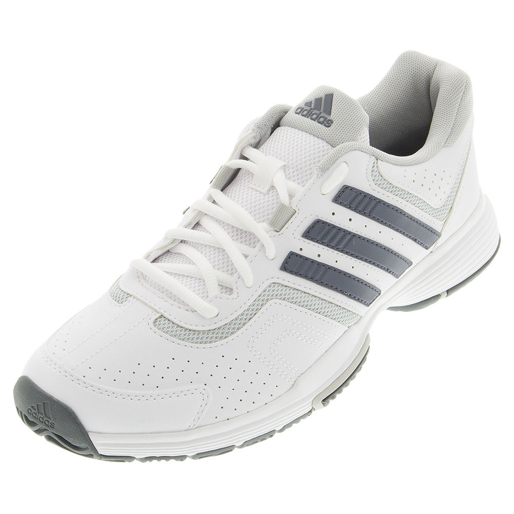 ADIDAS Women's Barricade Court Tennis Shoes White and Onix - Tennis Express