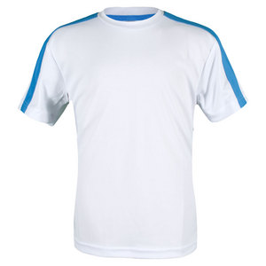 Boys` Classic Tech Micropoly Tennis Crew White and Blue