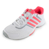ADIDAS Women`s Barricade Court Tennis Shoes White and Flash Red