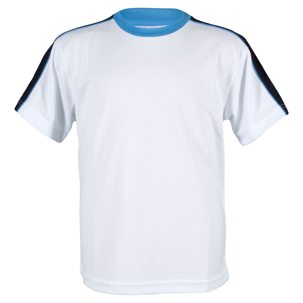 Boys ` Classic Tech Micropoly Tennis Crew White And Blue