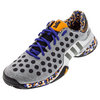 Men`s Barricade Berlin Wall Tennis Shoes Clear Granite and Black by ADIDAS