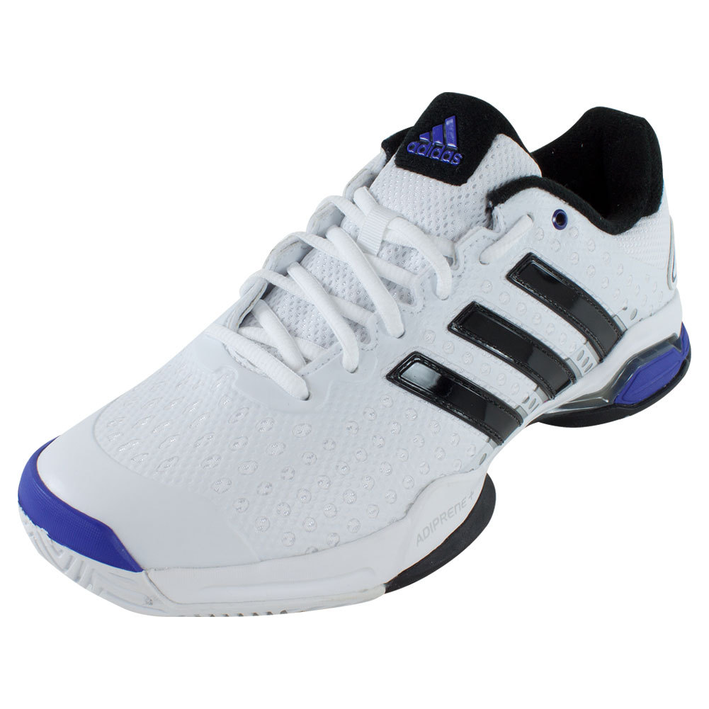 ADIDAS Men's Barricade Team 4 Tennis Shoes White and Iron