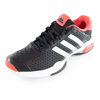 ADIDAS Men`s Barricade Team 4 Tennis Shoes Black and Silver Metallic