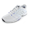 ADIDAS Women`s Barricade Team 4 Tennis Shoes White and Light Flash Purple