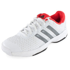 Juniors` Barricade Team 4 Tennis Shoes White and Bright Red