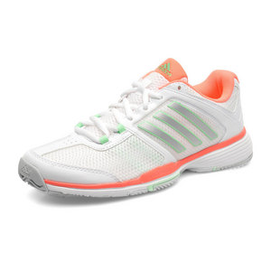 Women`s Barricade Team 4 Tennis Shoes White and Silver Metallic