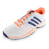 ADIDAS Women`s Barricade Team 4 Tennis Shoes White and Night Sky