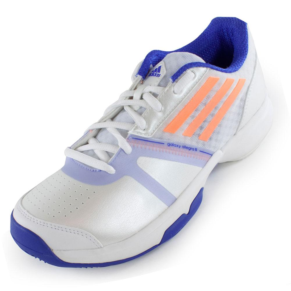 Women's Galaxy Allegra Iii Tennis Shoes White And Flash Orange