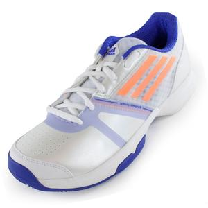Women`s Galaxy Allegra III Tennis Shoes White and Flash Orange