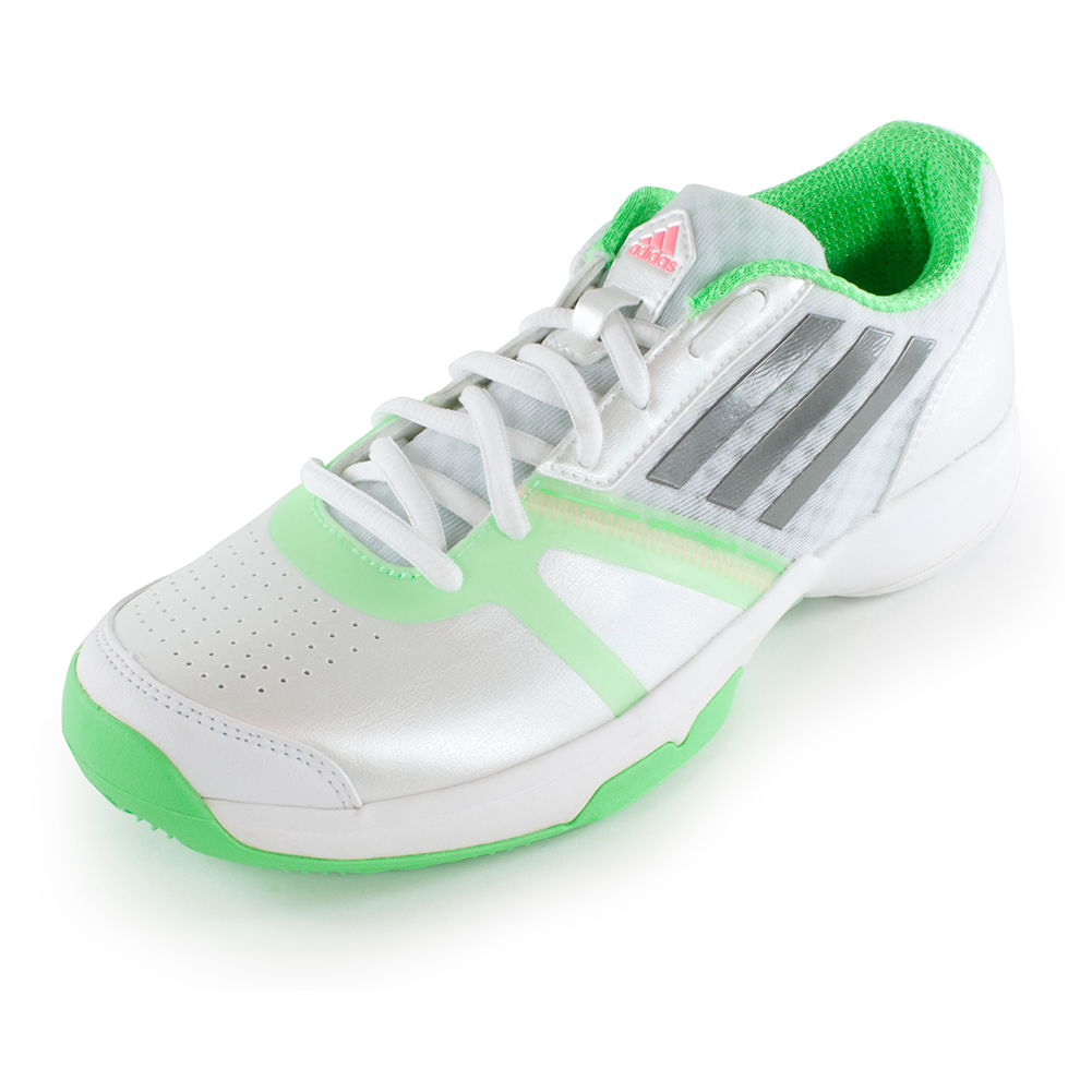 Women's Galaxy Allegra Iii Tennis Shoes White And Flash Green