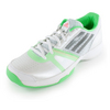 ADIDAS Women`s Galaxy Allegra III Tennis Shoes White and Flash Green