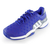 ADIDAS Juniors` Barricade 2015 Tennis Shoes Night Flash and White