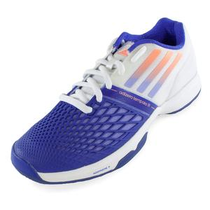 Women`s CC Adizero Tempaia III Tennis Shoes White and Light Flash Purple