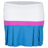 LITTLE MISS TENNIS Girls` Pleated Tennis Skort White and Electric Blue