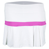 LITTLE MISS TENNIS Girls` Pleated Tennis Skort White and Fuchsia