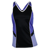TAIL Women`s Penelope Tennis Tank Black and Deep Lavender