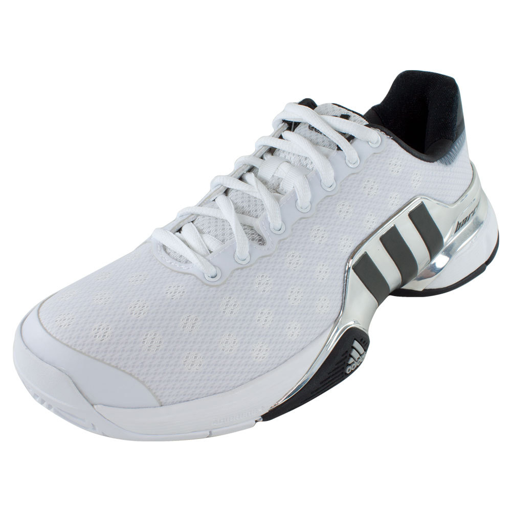 adidas s barricade 2015 tennis shoes white and black