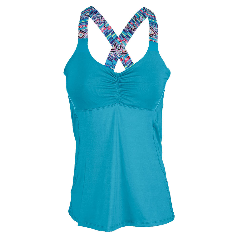 Lucky In Love Women`s Cami Tennis Top Ocean Blue at Sears.com