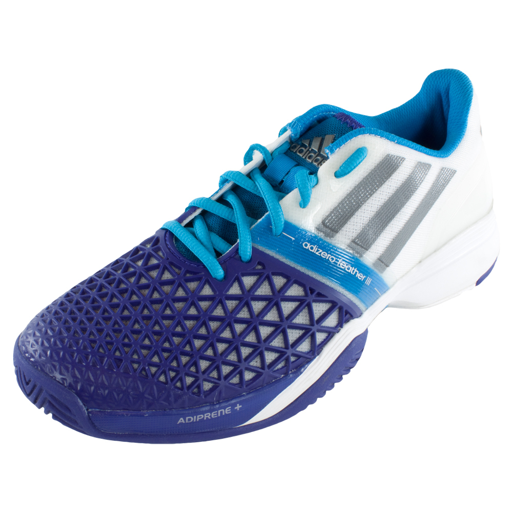 adidas s cc adizero feather iii tennis shoes white and
