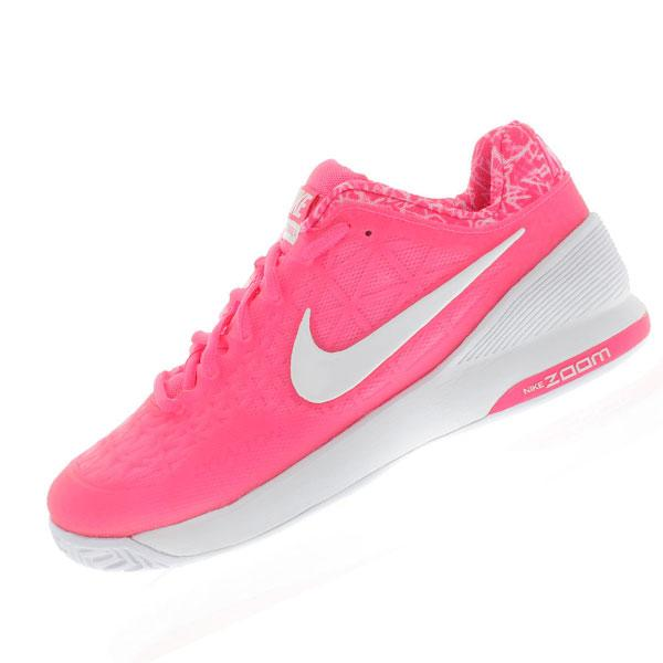 nike s zoom cage 2 tennis shoes pink pow and classic