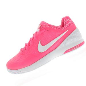 Women`s Zoom Cage 2 Tennis Shoes Pink Pow and Classic Charcoal