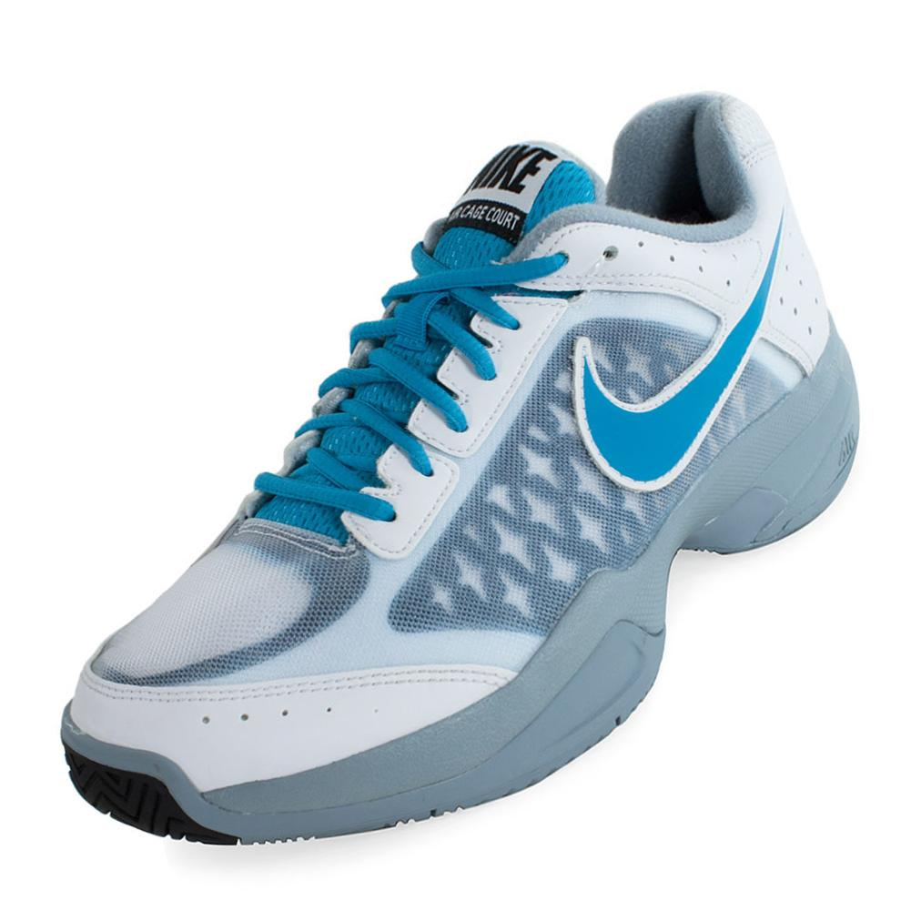Tennis Express | NIKE Men`s Air Cage Court Tennis Shoes White and ...